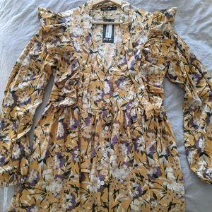 Prairie Princess Golden Floral Dress